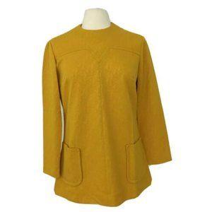 Vintage 1960s Mod Mini Dress / Top Long Sleeve M/L
